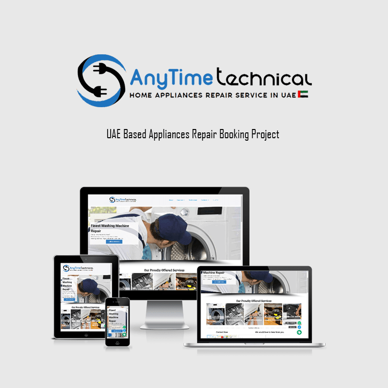 High quality website for Appliances Repair, Handyman, Plumber or Electrician design and development service worldwide.